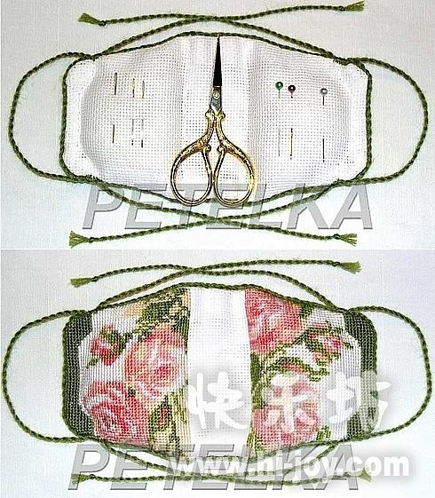 Idea of what purse can look like inside or can sew it closed as an ornament