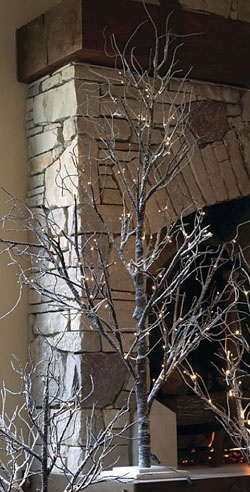 Snow Trees - cool flocked trees for indoor holiday decorations