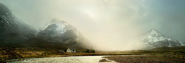 Photography workshop Scotland. Landscape photography workshop teaching photography visualization, landscape photography and Photoshop editing on one photography course. Private tuition workshops booked on demand, worldwide. Fine art photography print for sale of Glen Etive, Scotland by David Osborn Photography.