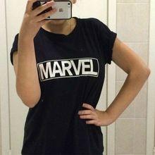 Novo 2016 Mulheres Harajuku Camisetas MARAVILHA T Carta Impressão Ocasional Plus Size Roupas Tumblr Tops Tees Camisas Poleras Mujer(China (Mainland))