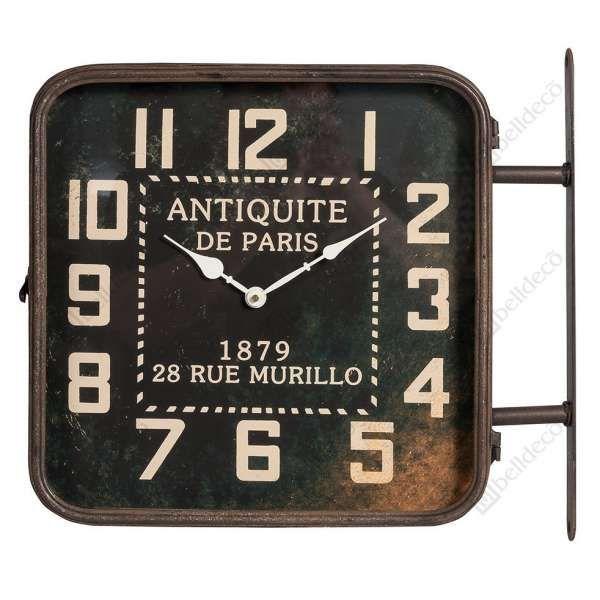 Dwustronny zegar w stylu vintage może stać się wyjątkową ozdobą Twojego domu. #mlamp #dekoracje #zegar #dwustronny #dekoracja #wystrój #wnętrz