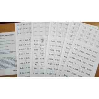 Pracovní listy do matematiky. Obor 0 - 10 000. Vhodné pro 4. i 5. třídu.