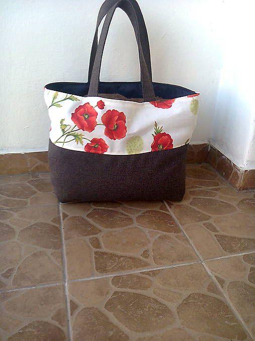 KATARINASCHOLZOVA / Nákupná taška vlčie maky