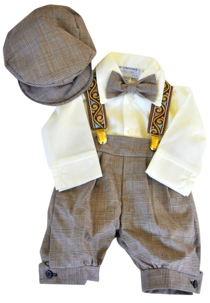 dbb82e797 Infant   Toddler Boys Vintage Style Knickers Outfit Suspenders ...