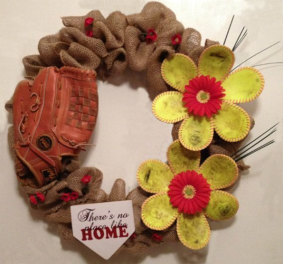 Customizable Decorative Softball or Baseball by RebeccasSmilingFox, $95.00