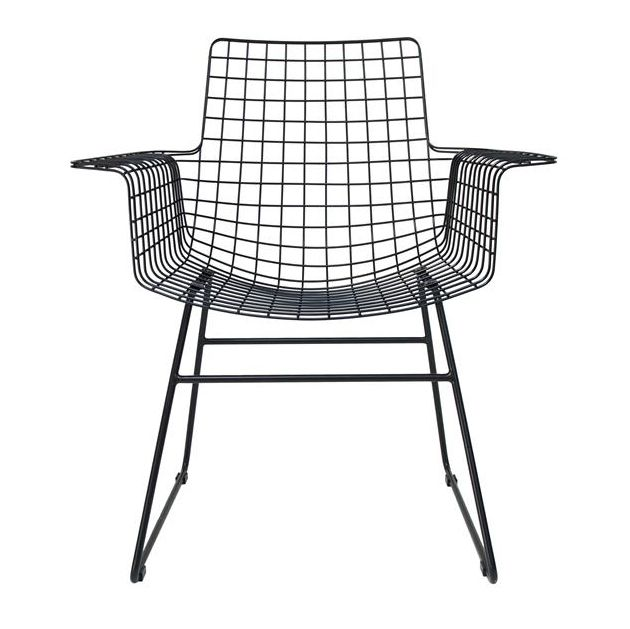 Wire Chair with Armrest • WOO Design