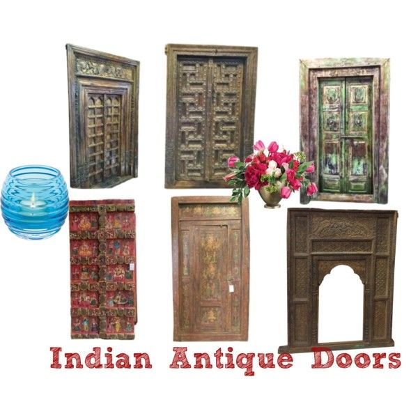 Indian antique doors by mogul interior on polyvore for Mogul interior designs