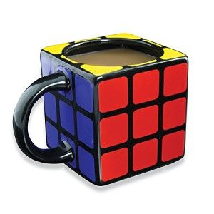 Nerdy Gifts Rubiks Cube 3D Mug Perfect gift for the Rubik's Cube enthusiast in your life. ake a break from your puzzle solving with this officially licensed Rubik's Cube mug. Capacity: 350 ml.