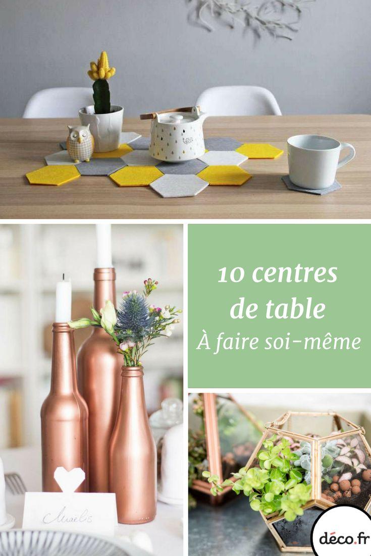 Pour donner du style à votre dîner et bluffer vos invités, vous pouvez réaliser de superbes centres de table grâce à ces 20 DIY ! http://www.deco.fr/photos/diaporama-centres-table-diy-d_5231