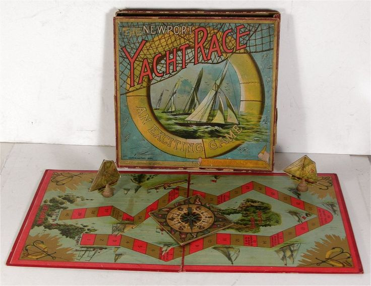 1891 Yacht game by McLoughlin Bros. Board games