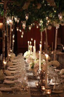 Iluminación con velas para boda