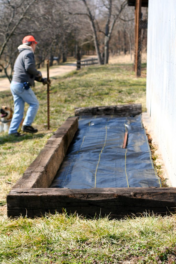 Railroad Tie Flower Beds For The Home Pinterest