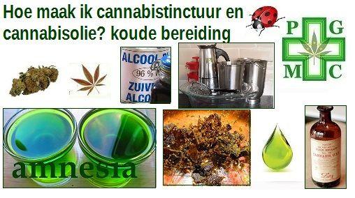 Cannabistinctuur is een medicijn wat aleeuwenlang gebruikt wordt, in Nederland is het niet eens verkrijgbaar voor patiënten, net als cannabisolie, terwijl dit een van de favoriete toedieningsvormen is voor patiënten.  Een van de manieren om dit te maken is op de koude manier, die zal ik geheel omschrijven, hierbij blijven alle stoffen goed bewaard, met name de terpenen, omdat er geen verhitting plaats vind, dus de zure vorm van de cannaboiden worden opgenomen in het geheel. Dit houdt in…