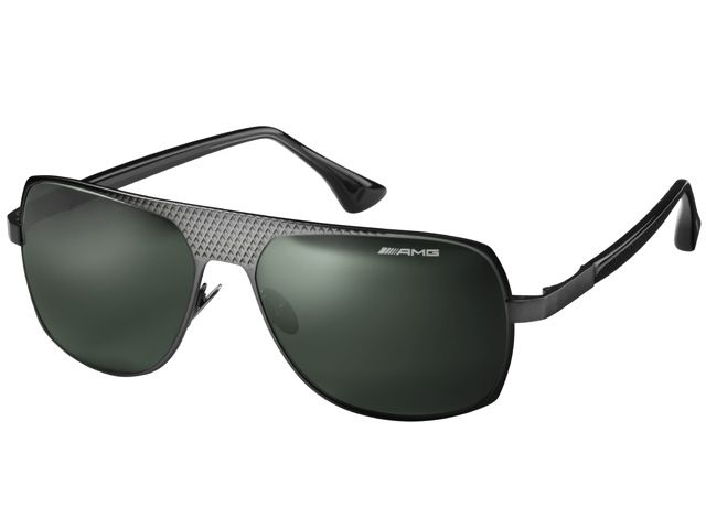 Sunglasses anthracite, titanium B66959920  Colour: anthracite Material information:titanium  Sunglasses. Matt anthracite metallic. AMG diamond pattern cut in titanium frame. Green-grey Optics by Carl Zeiss Vision lenses. Anti-reflective coating on inside. Carbon-look acetate arms. Black case and microfibre cloth with AMG logo. Metal AMG stud on each earpiece.