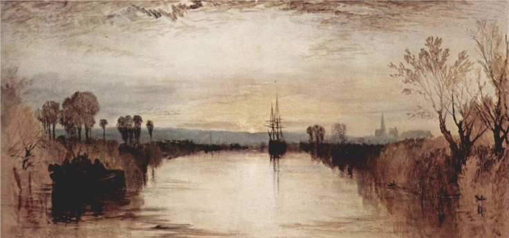 Chichester Canal - William Turner, 1828