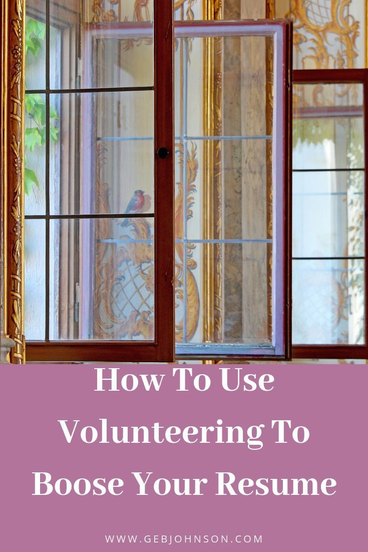 How to use volunteering to boost your resume experiences
