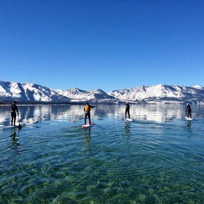 Lake Tahoe SUP January 2013. #WinterSUP. 2 Stand Up Guys ...