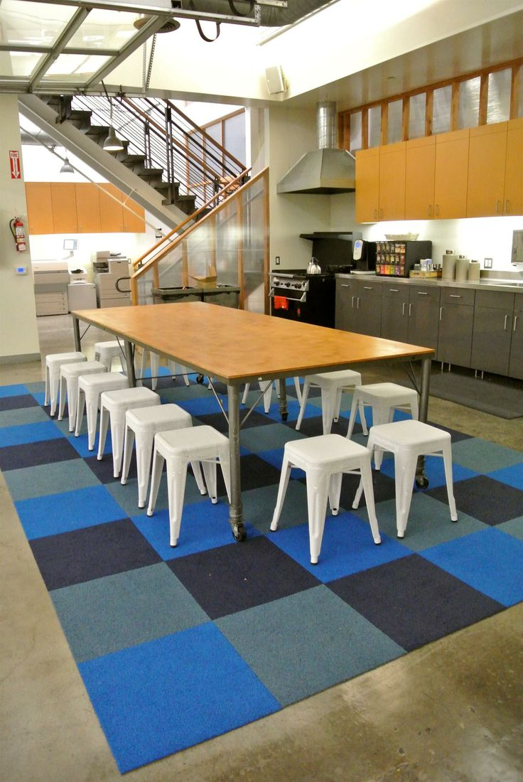 Shryne Design Globe Office Kitchen   Carpet Tiles   Ss Colours? Use Diff  Colour Tiles In Diff Areas   Chill Out... | Interiors | Pinterest | Color  Tile, ...