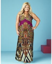 """""""Gemma Collins"""" Gemma Collins Printed Maxi Dress at Simply Be"""