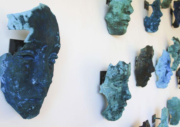 Masks by South African artist Lionel Smit.  #Ocean House #Morukuru #De Hoop #South Africa #decor #design #Africa #masks