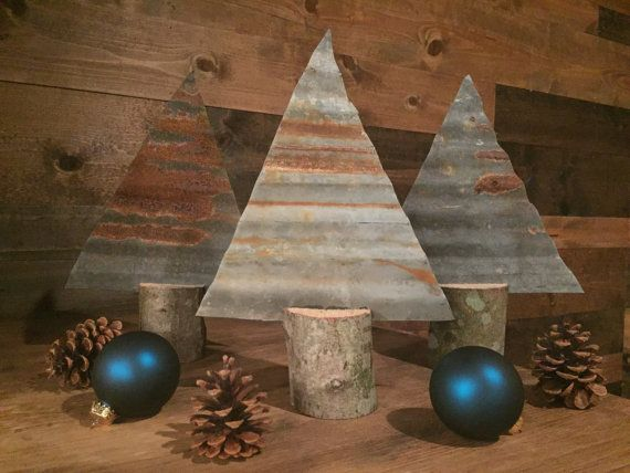 SALE Corrugated Metal Christmas Tree Rusted by TheRustedWoodShop                                                                                                                                                                                 More