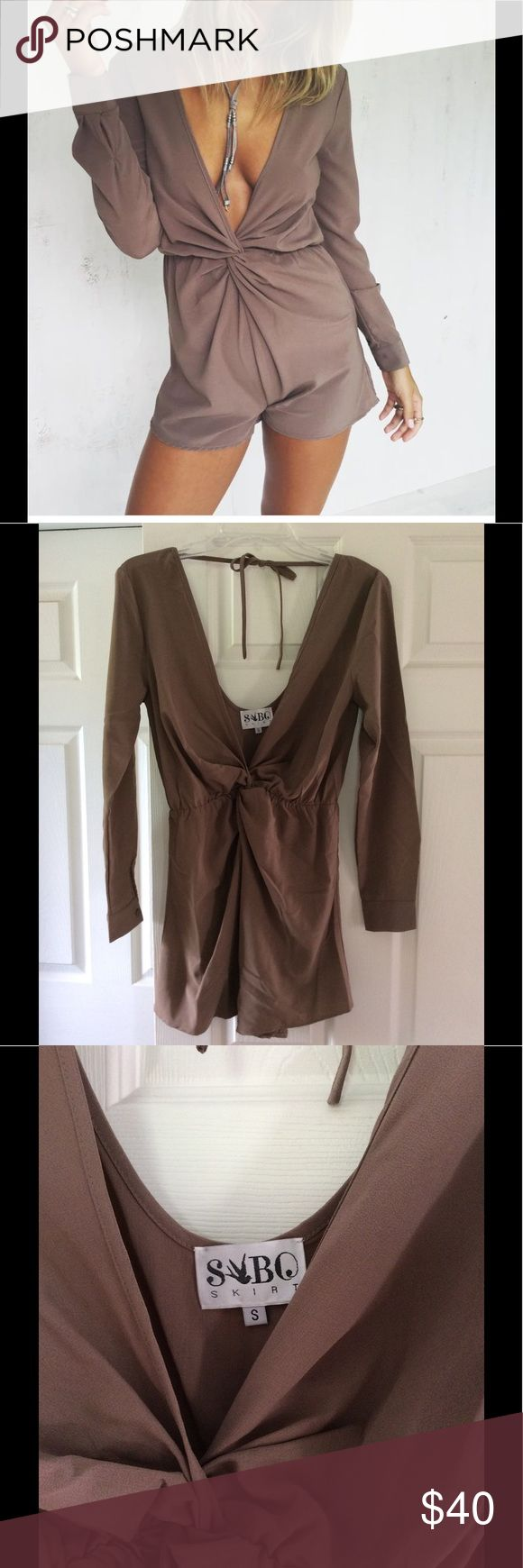 Sabo Skirt Mika Playsuit / Romper Sabo Skirt Mika Playsuit in a beautiful chocolate brown color. Size small. 100 % polyester. Excellent condition. Only worn twice. Sabo Skirt Pants Jumpsuits & Rompers