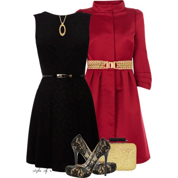 Black Dress, Red Coat