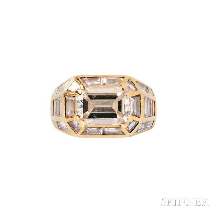 18kt Gold and Diamond Ring - Price Estimate: $8000 - $10000