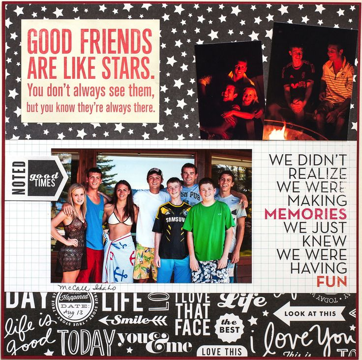 Good Friends Scrapbook Page Layout mambi memories blog Alice Golden page
