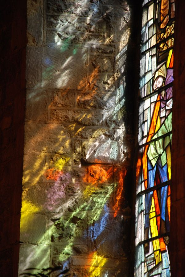 Let There Be Light by John Marsh...The sun shining through this stained glass window in the church of St Mary & St Nicholas, Spalding, UK