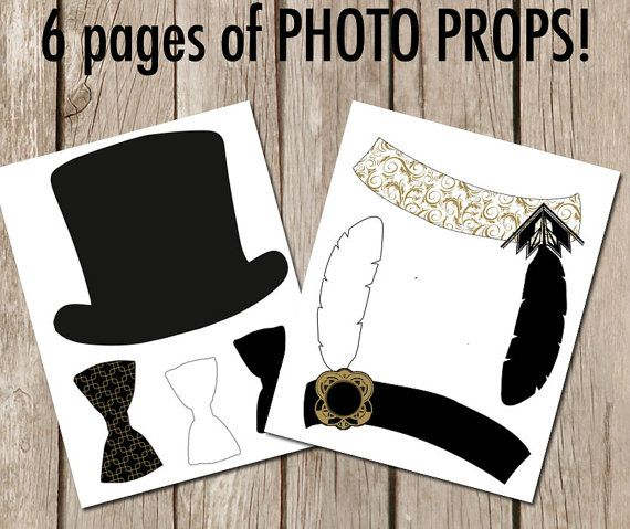 Roaring Twenties party Gatsby gold and black by ...