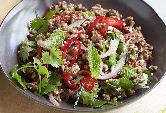 Minced beef larb with roasted rice recipe - 9Kitchen