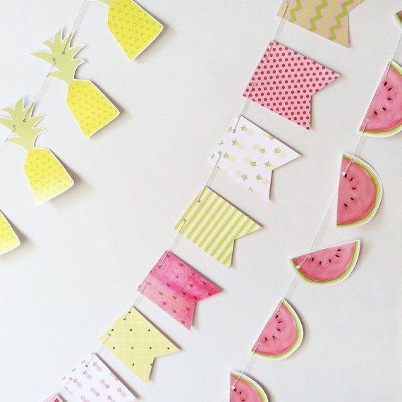 Guirlande de melons fête tutti frutti décoration par MOMYboutique