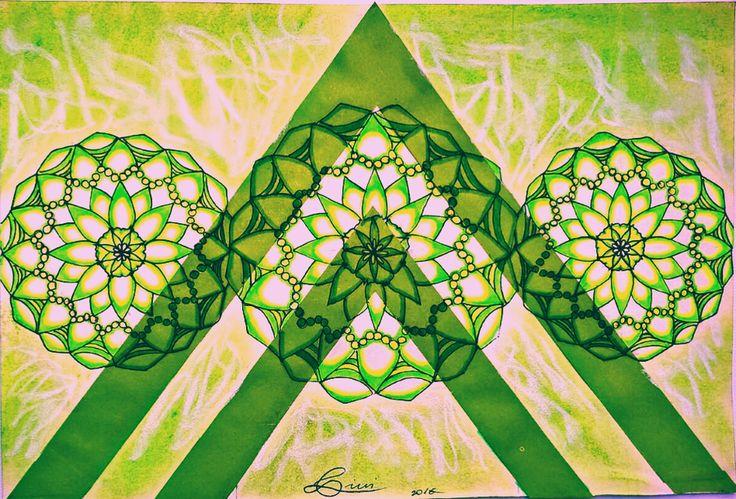 Mandala #mandala #mandalaart #art #artwork #neon #green #3 #3mandala #white #color #mandalaartwork