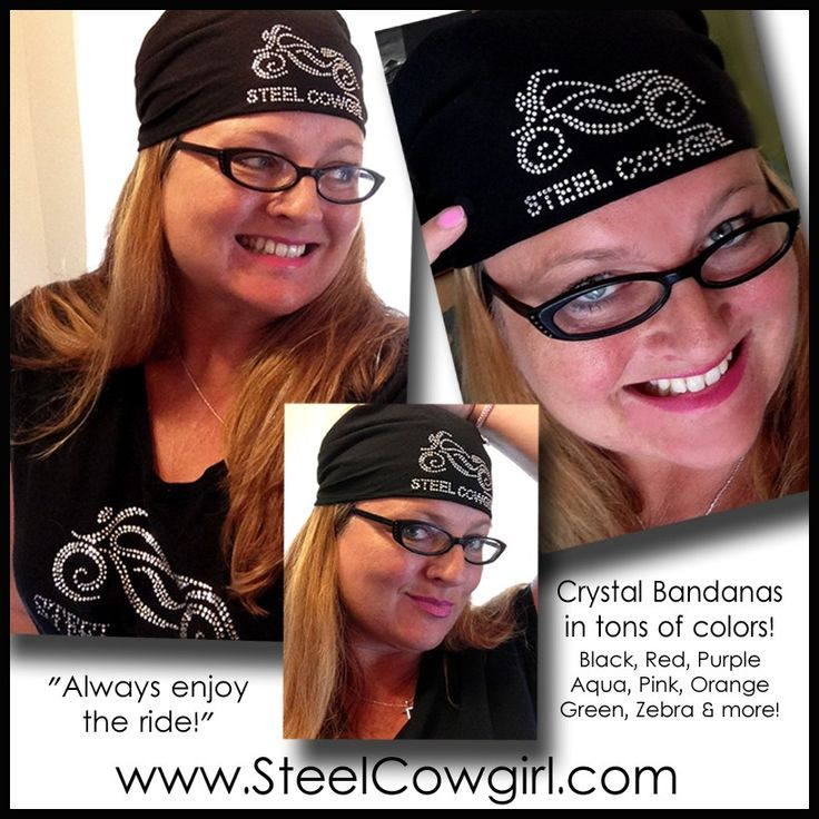 Steel Cowgirl - Crystal Bling Motorcycle Bandana by Steel Cowgirl, $12.00 (http://www.steelcowgirl.com/crystal-bling-motorcycle-bandana-by-steel-cowgirl/)