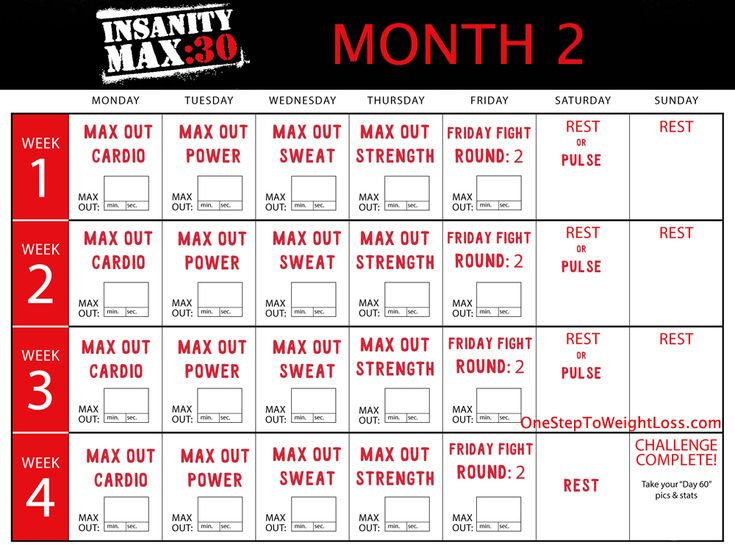 The  Best Insanity Max  Schedule Ideas On