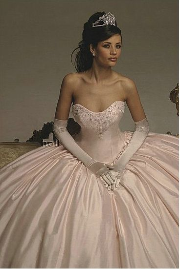 sweetheart ruched v neck strapless long beaded pink wedding dress for salecolorful wedding dresses