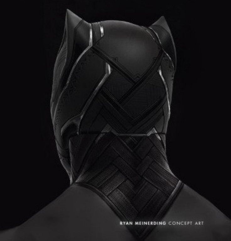 "Concept art of Black Pantha / T'Challa from "" Captain America : Civil War "" (2016)."