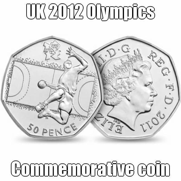 UK 2012 Olympics commemorative coin