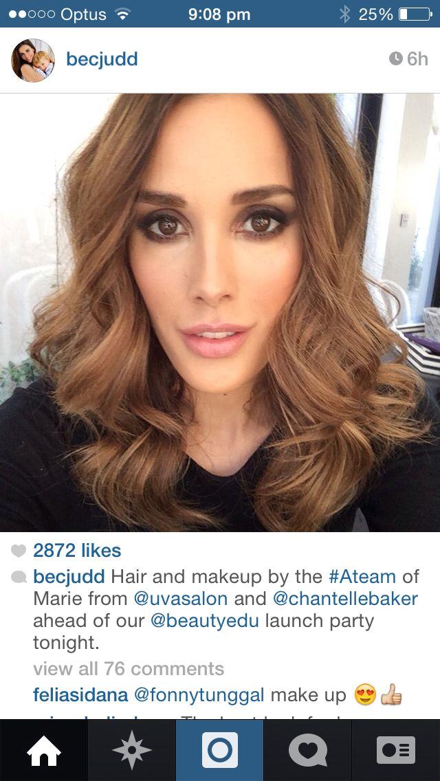 Bec Judd's hair colour