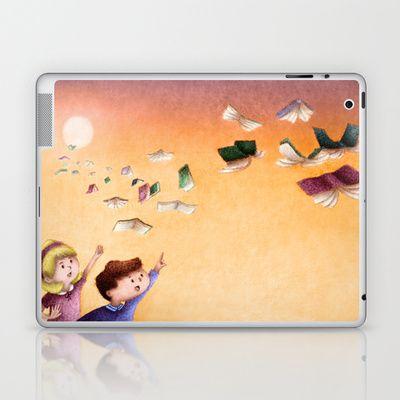 Magical Books #1 Laptop & iPad Skin by Alexandria Gold - $25.00