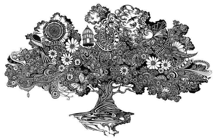 #tree #tangle #art