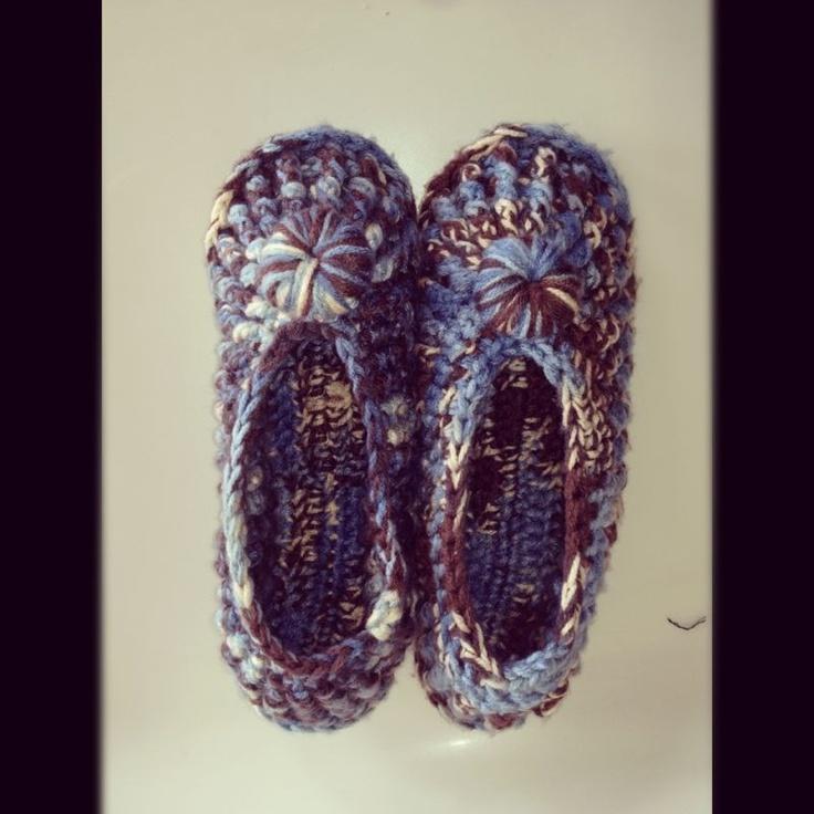 Pantuflas: Crochet