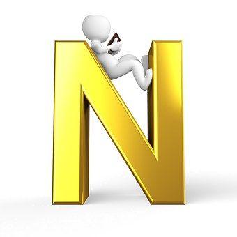 N, Letter, Alphabet, Alphabetically