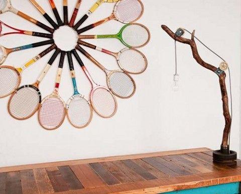 Ideas para reutilizar raquetas de tenis en la decoración