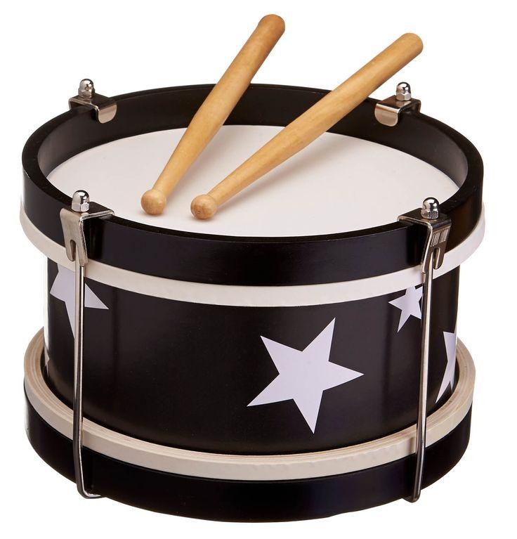 Trommel - zwart - Kid's Concept - Houten Speelgoed, Muziek -