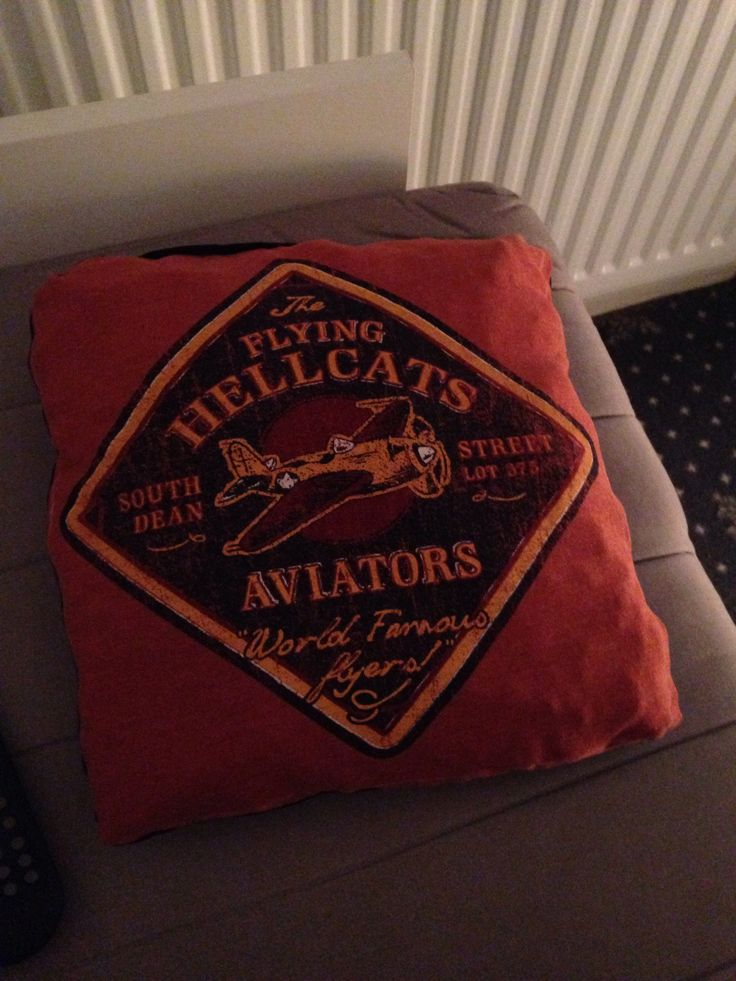 I made a pillow from one of my dads old t-shirts and stuffing - I love it!