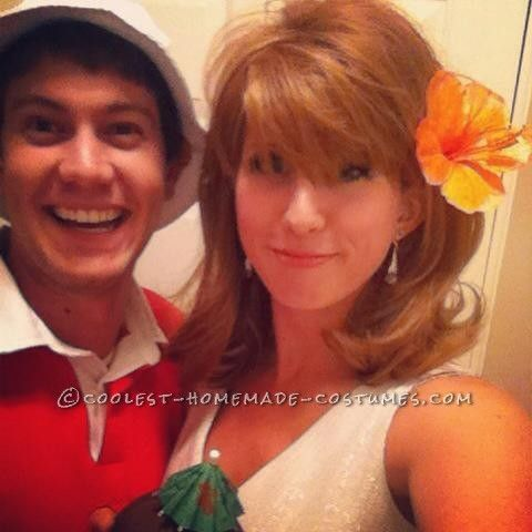 Gilligan and Ginger DIY Couple Halloween Costume (And The Professor, Too)… Coolest Halloween Costume Contest