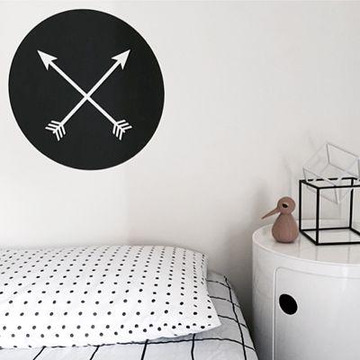 Our Arrow Walldot - exclusive to Met Interiors Design. Reusable fabric 44cm diametre
