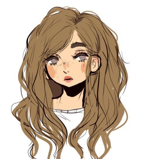 aesthetic character drawing drawings pretty brown drawn female illustration hair haired cool child inspiration sugarglum illustrations cartoon draw cizimleri insan